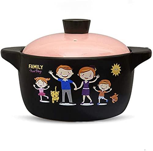 Fuentes para horno con tapas Cacerola - Cacerola Alta Temperatura Crock Pot crisol de la sopa de cerámica Pequeña Cacerola sopa de olla Pot-4.5L Mengheyuan (Size : 3.0L)