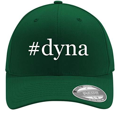#dyna - Adult Men's Hashtag Flexfit Baseball Hat Cap, Forest, Large/X-Large