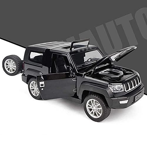 XLAHD Pull Back Cars Simulación Aleación Modelo de automóvil Negro Pull Back Toy Car Aleación para niños simulada Pull Back Car Sonido y luz Modelo de Scooter inercial
