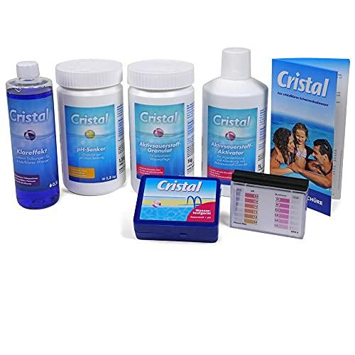 Bayrol Cristal Poolpflege-Set Sauerstoff 4,1 kg - Wasserpflege Starter Set für die chlorfrei Pool Pflege