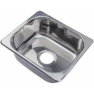 Small Steel Inset Single Bowl Kitchen Sink (A11 mr):Labuttanret