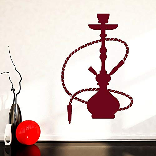Pegatinas de Pared decoración del hogar Dormitorio Sala de Estar Hookah Hookah Fumar árabe Fresco Vinilo Pared calcomanía Hombre Cueva Arte Mural
