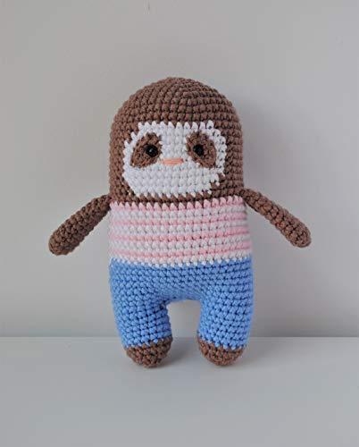 Paresseux peluche 18cm crocheté main Amigurumi Marshmallow Toys