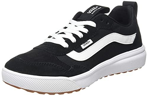 Vans Range EXP, Zapatillas Mujer, Lona de Ante Negro Blanco, 36 EU