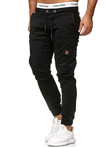 OneRedox Herren Chino Pants | Jeans | Skinny Fit | Modell 3301 (38/32 (Fällt eine Nummer Kleiner aus), Schwarz)