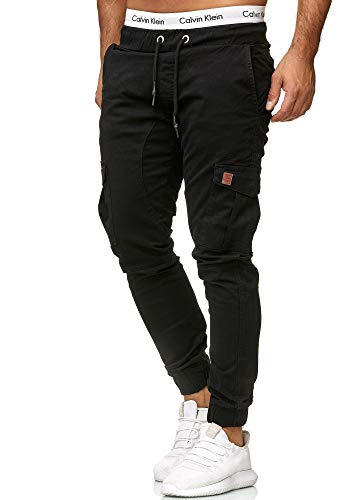 OneRedox Herren Chino Pants | Jeans | Skinny Fit | Modell 3301 Schwarz 30