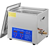 VEVOR Professional Ultrasonic Cleaner 10L/2.5 Gal, Easy to Use with Digital Timer & Heater, Stainless Steel Industrial Machine for Jewelry Dentures Small Parts, 110V, FCC/CE/RoHS Certified