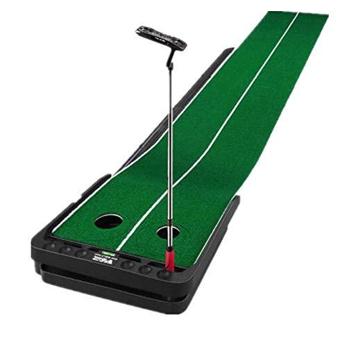 Yaunli Golf Que Pone la Estera Césped Artificial Golf Putting Trainer Cubierta Putt Trainer Pendiente Ajustable multifunción Ejercicio Ensanchamiento Golf Mat Huelga (Color : B, Size : 300X53X