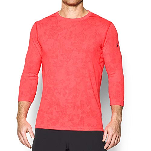 Under Armour Men's Threadborne Elite Fitted 3/4 Sleeve Shirt, Marathon Red /Anthracite, Medium