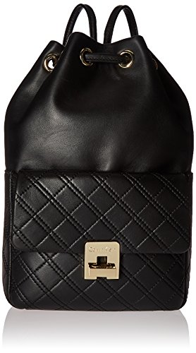 Calvin Klein Permanent Quilted Lamb Drawstring, Black/Gold