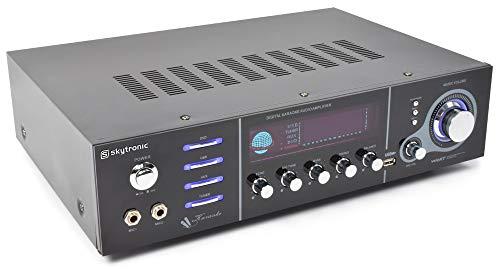 Skytronic AV-320 5.0Kanäle Surround Schwarz - AV-Receiver (5.0 Kanäle, Surround, 250 mV, 47000 Ohm, RCA, Bananenstecker/Polklemmen)