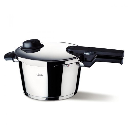 Fissler vitavit comfort / Olla a presión (6 litros, Ø 22 cm) de acero inoxidable, 2 niveles de cocción, apta para cocinas de inducción, gas, vitrocerámica y eléctricas