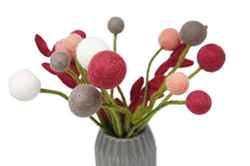 Én Gry & Sif Flores de estilo escandi, fieltro natural, mano de mada justa, decoración de Pascua, ramo de flores Frida