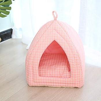 Urijk 2 en 1 Tente Lit Chien Chat Maison avec Coussin pour Chien Chat Igloo Chat Confortable Nid Chiot Ultra Doux Respirant Portable Panier Niche Caverne