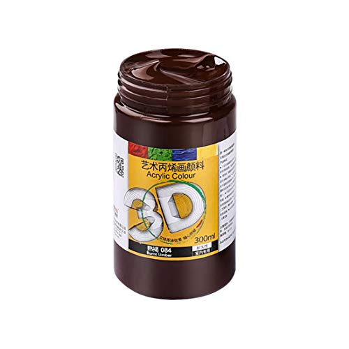 YaToy Acrylfarben Dunkelbraun 300 ml, Professionelle Gouache Farbe Wasserdicht für Künstler, Kinder, Hobby-Maler auf Leinwand, Holz, Stoff, Keramik, langlebiges Pigment