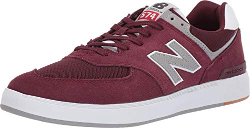 Zapatos New Balance 574 Court Burgundy-Gris (EU 45.5 / US 11.5, Rojo)