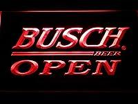 Busch Open LED看板 ネオンサイン ライト 電飾 広告用標識 W40cm x H30cm レッド