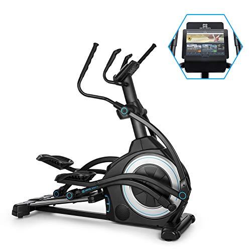 Capital Sports Helix Star UP Bicicleta elíptica Orbital, Apoyo con la aplicación Kinomap, Bluetooth, InclinePro: inclinación a 3 Niveles, Volante de inercia de 25kg, Resistencia de 32 Niveles,