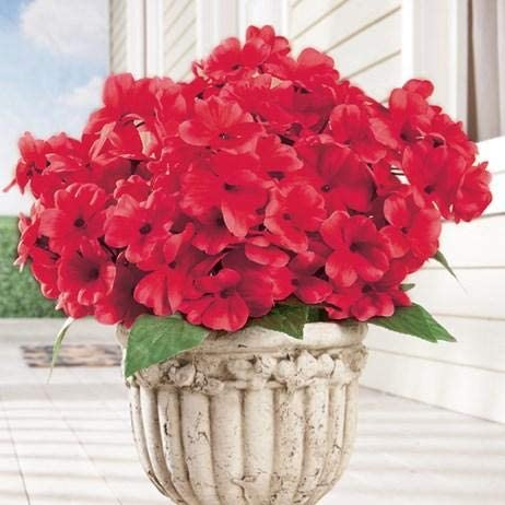 Set of 3 Daily bargain sale Red Animer and price revision Bushes Floral Faux