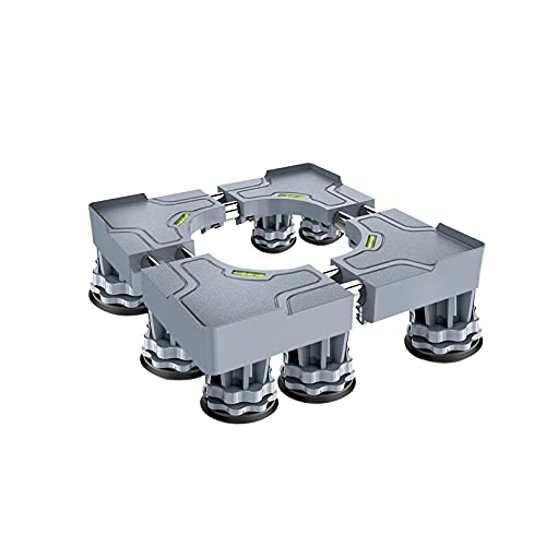 YiHYSj Base Lavadora Ajustable Largo/Ancho 44-68cm Pesado Soporte para Secadora y Refrigerador Pedestal y Marco para Neveras Altura 10-14cm Base Mueble Lavavajillas (8/12 Pies Fuertes) (8Legs)
