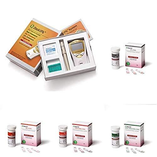 Helse Cholesterol Testing Kit with Digital Home Cholesterol Test Meter and Cholesterol Test Strips (LDL, HDL, Triglyceride, Total Cholesterol)