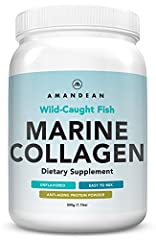 HIGHEST QUALITY & GREAT PRICE Amandean Marine Collagen Peptides are sourced from wild-caught fish in the pristine waters of the North Atlantic. Unflavored, easy to mix, and enzymatically processed to keep the peptides intact. Single ingredient from a...