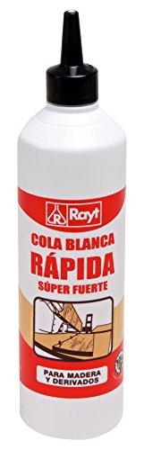 Rayt 038-81 Botellín de Cola Blanca Súper Fuerte para Madera, Papel, Cartón, Cerámica Y Todo Tipo de Materiales Porosos, Multicolor, 750Gr