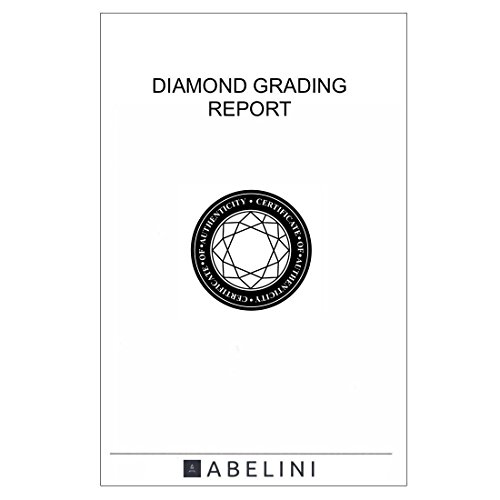 Abelini 1.00 Carat Certified I1/HI 100% Natural Round Solitaire Diamond Engagement Rings for Women In 9K White Gold