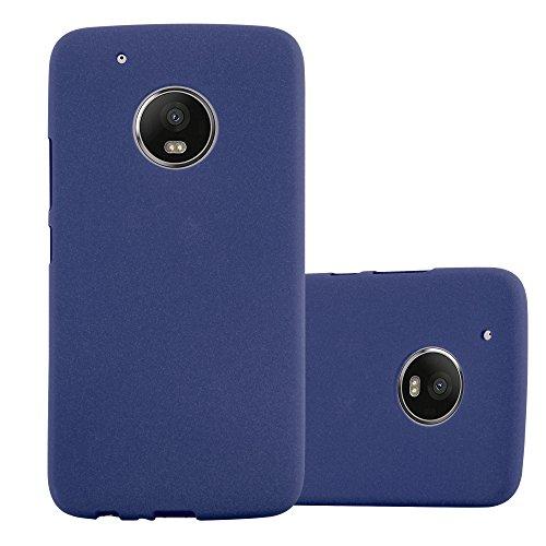 Cadorabo Custodia per Motorola Moto G5 Plus in Frost Blu Scuro - Morbida Cover Protettiva Sottile di Silicone TPU con Bordo Protezione - Ultra Slim Case Antiurto Gel Back Bumper Guscio