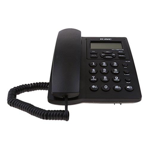 Quadband Tischtelefon für Büro, Familie und Senioren, Anrufer-ID Freisprech-Freisprechmodus usw.