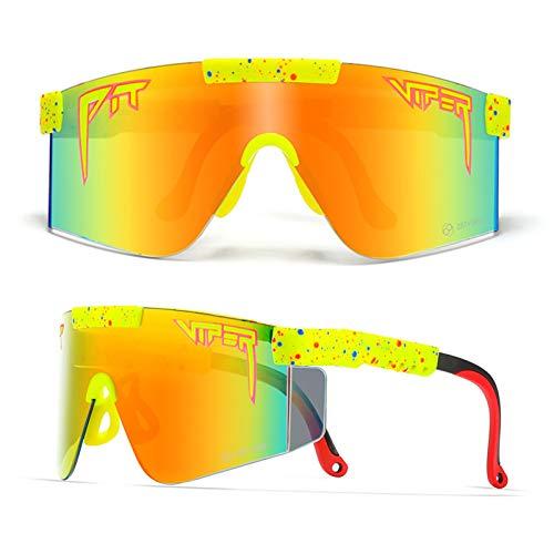 Gafas De Sol Polarizadas para Hombres, Gafas De Sol De Ciclismo con Protección UV400 con Marcos TR90, Gafas De Sol Deportivas para Conducir, Correr, Actividades Al A B