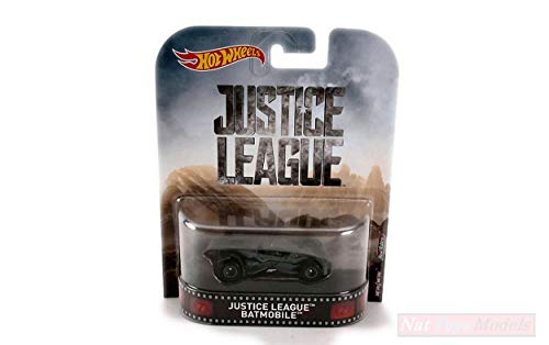 Hot Wheels HWDMC55DWJ80 Justice League Batmobile 1:64 MODELLINO DIE CAST Model kompatibel mit