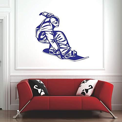 Wall Stickers for Bathrooms Women,Slide Plate Patinaje Patin Etiqueta Longboard Deportes Kids Room Vinilo Pegatina Decoracion Ornament Gift Art Artwork Mural Romantic Bathrooms 72x76cm