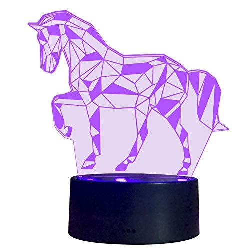 3D Illusion Nachtlampe S SUNINESS LED Pferd licht für Kinder Kinder Dekoration Geburtstag Geschenk