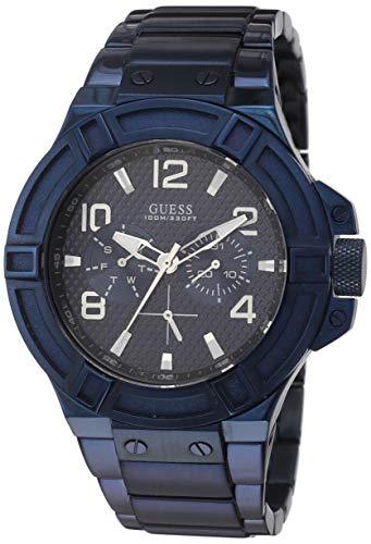 Guess Reloj analogico para Hombre de Cuarzo con Correa en Acero Inoxidable W0218G4