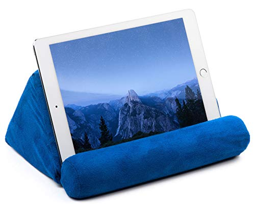 iPad Pillow Holder for Lap - Tablet Pillow for iPad - Universal Phone and iPad Pillow Pad for Tablet or iPad Can Be Used also on Floor, Desk, Chair, Couch - Blue Color