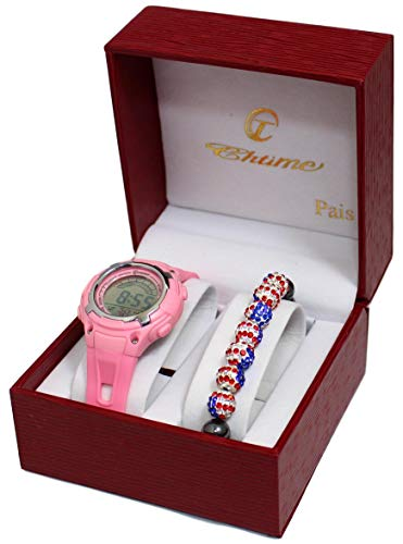 Bellos - Coffret Montre Enfant Digitale Plus Bracelet Shamballa London UK