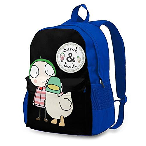 LenoYuan Sarah & Duck Backpack for teens, Large Capacity 3D Printed School Backpack Cool Book bag