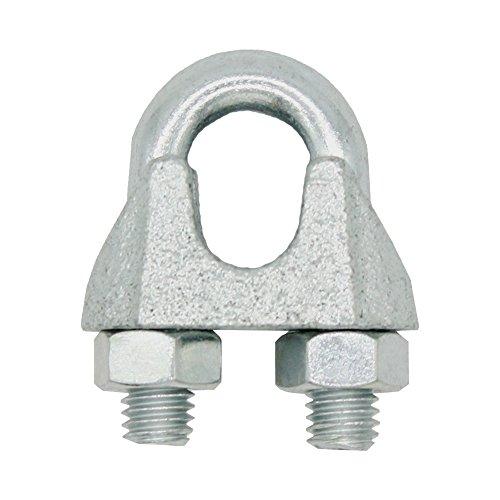 \'Alambre Abrazadera para cable 10mm 3/8cuerda abrazadera en forma de sujeción para cuerda de acero. 4unidades