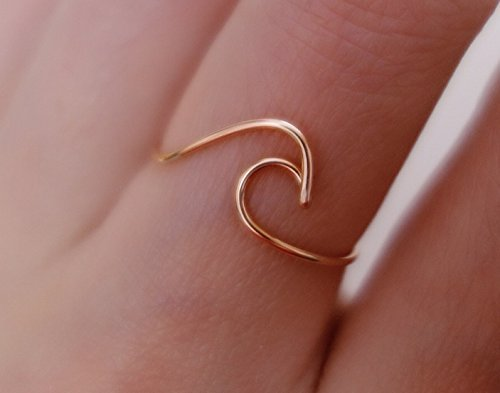 Stacking Rings 925 Sterling Silver Wave Ring