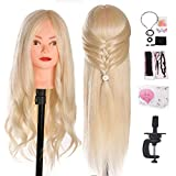 Best Hair Mannequins - Mannequin Head, Beauty Star 24 Inch Creamy-White Long Review