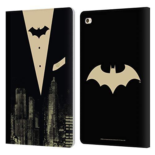 Head Case Designs sous Licence Officielle Batman DC Comics Suit Dualité Coque en Cuir à Portefeuille Compatible avec Apple iPad Mini 4