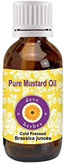 Deve Herbes Pure Mustard Oil (Brassica juncea) 100% Natural Therapeutic Grade Cold Pressed 5ml (0.16 oz)