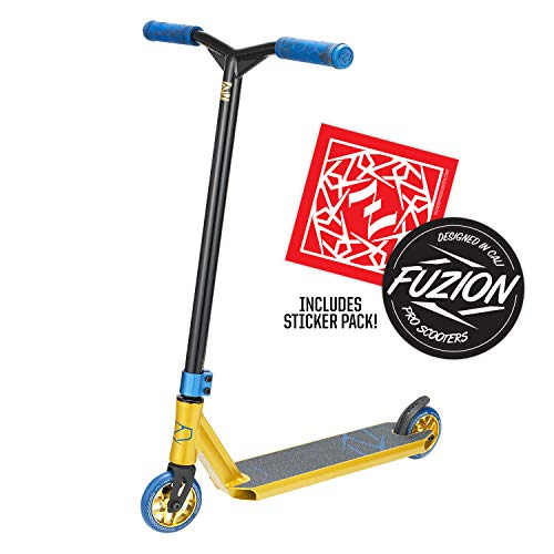 Fuzion Z250 Pro Scooters - Trick Scooter - Intermediate and Beginner Stunt Scooters for Kids 8 Years and Up, Teens and Adults – Durable, Smooth, Freestyle Kick Scooter for Boys and Girls (Black)
