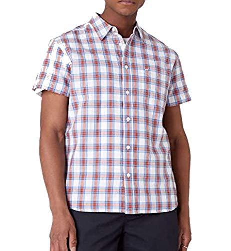 Wrangler SS 1 PKT Shirt Camisa Casual, Blanco (White 989), M