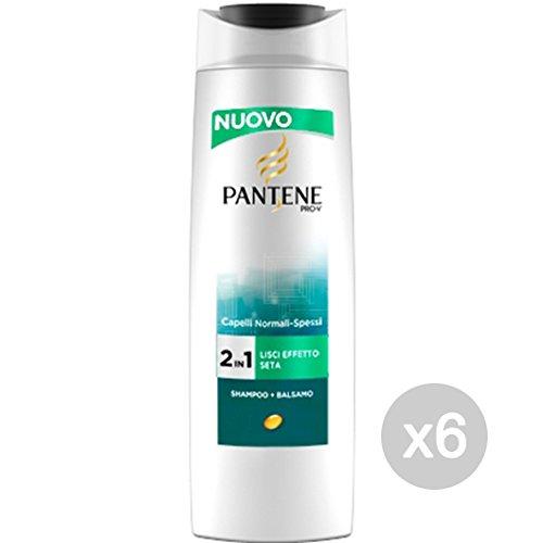 Set 6 PANTENE Shampoo 2In1 Lisci Effetto Seta 250 Ml Cura E Trattamento Dei Capelli