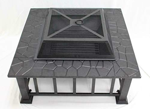 None/Brand 32' Outdoor Garden Fire Pit BBQ Grill Stove Heater Patio Fire Pit Metal Table
