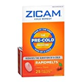 Zicam Cold Remedy RapidMelts Cherry Flavor 25 EA - Buy Packs and SAVE (Pack of 2)