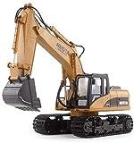 RC TECNIC Escavatore Telecomandato RC con Scala 1:14 15 Canali | Escavatori Radiocomandati Camion da Costruzione con Luci e Suoni