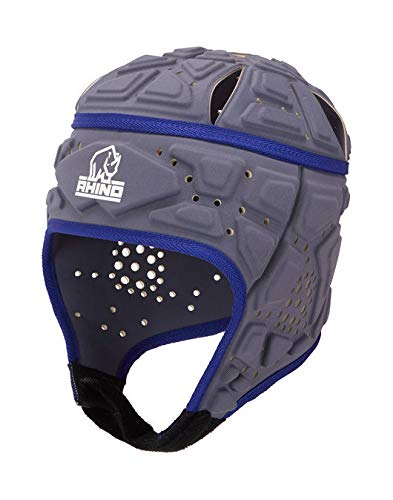 RHINO RUGBY - Forcefield Pro Scrum Cap Headguard - Lightweight and Breathable for Maximum Performance - Black - Large
